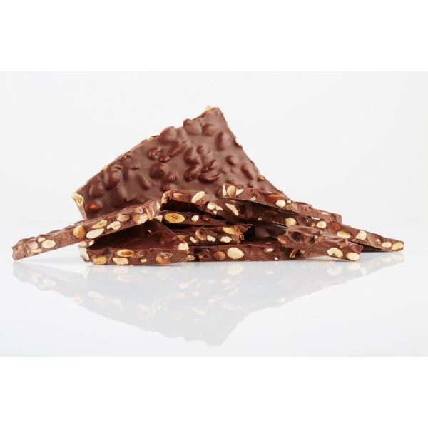 Brutus Peru 75% Dark Chocolate Bark with Hazelnuts
